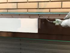 シリコン上塗り1回目 シャッターボックス