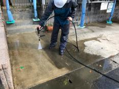 横浜市戸塚区 土間高圧洗浄
