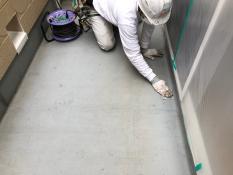 油類拭き FRP防水保護塗装 ベランダ