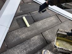 屋根塗装シーラー1回目