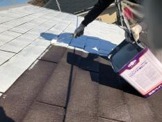 屋根塗装下塗り2回目