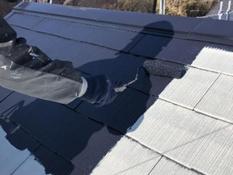 屋根遮熱塗装 上塗り1回目