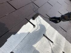 屋根遮熱塗装上塗り1回目