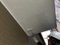 軒天塗装上塗り2回目