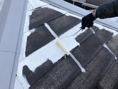 屋根塗装シーラー2回目