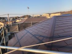 遮熱塗装 屋根棟板金 施工後