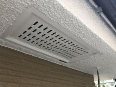 住宅塗装 軒天換気口施工後