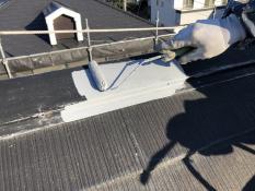 棟板金塗り替え 錆止め塗装