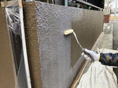 塀塗装 UVカットクリヤー