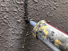 外壁クラック補修シール充填