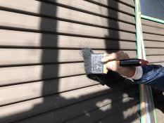 戸建住宅 雨戸塗装