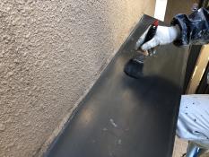 塗り替え 出窓天端 清掃