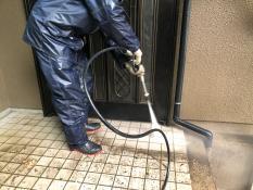 玄関ポーチ洗浄