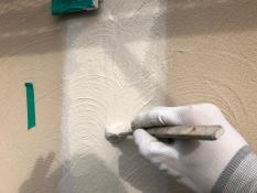 住宅塗装 外壁模様付け