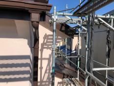 戸建住宅 竪樋塗装後