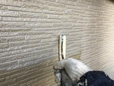 横浜市ダイヤモンドコート外壁塗装上塗り