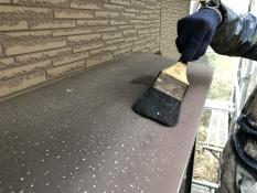 出窓天端塗装清掃