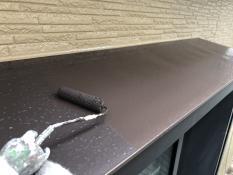 出窓天端塗装上塗り2回目