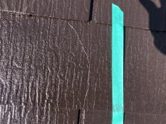 スレート屋根補割れ補修