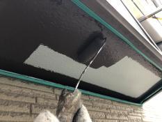 出窓下端上塗り1回目