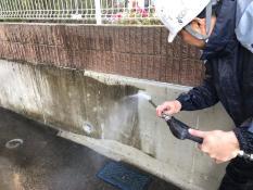 擁壁高圧洗浄