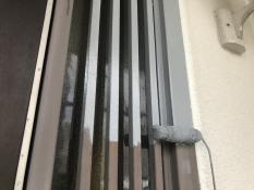 塗装リフォーム 玄関枠 錆止め塗装