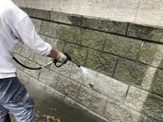 横浜市栄区N様邸住宅塗り替え前高圧洗浄作業