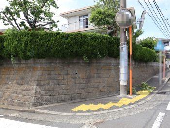 横浜市栄区N様邸塀塗装施工前画像