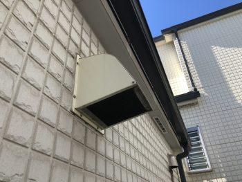 外壁塗り替え 換気フード塗装前