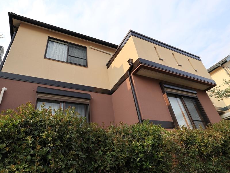 横浜市鶴見区W様邸インディフレッシュセラ外壁塗装後