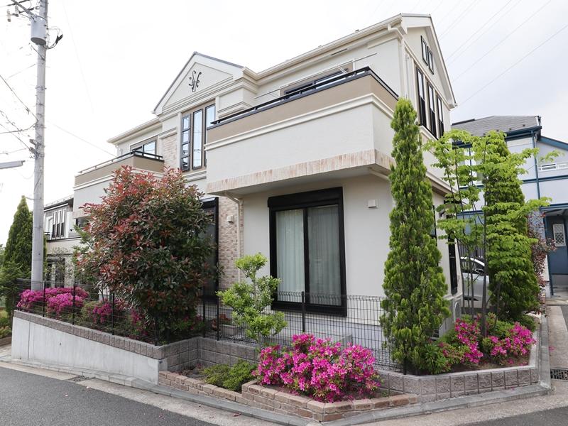 横浜市栄区K様邸インディフレッシュセラ外壁塗装塗替え後