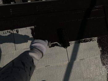 横浜市栄区C様邸屋根上塗り1回目