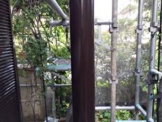 横浜市戸塚区H様邸ベランダ鉄柱塗装完了
