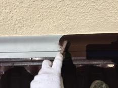 横浜市戸塚区H様邸屋根雨押え塗装上塗り1回目
