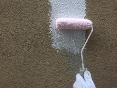 横浜市鶴見区W様邸外壁塗装前模様付け