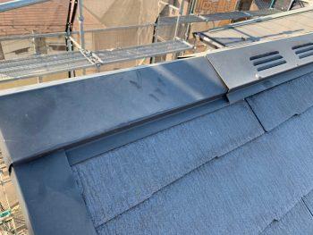 屋根棟板金塗装 施工前