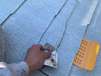 屋根塗装 ひび割れ補修