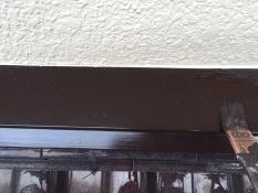 屋根雨押え塗装 上塗り2回目