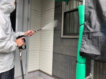 横浜市栄区C様邸外壁高圧洗浄
