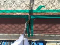 横浜市戸塚区H様邸幕板塗装前プライマー
