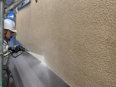 横浜市鶴見区W様邸外壁高圧洗浄