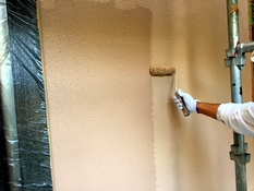 外壁塗装 上塗り2回目 シリコン