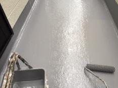 横浜市港南区K様邸FRP防水上塗り2回目