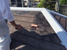屋根塗装 シーラー下塗り