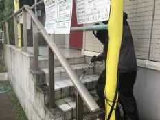 横浜市港北区G様邸階段高圧洗浄