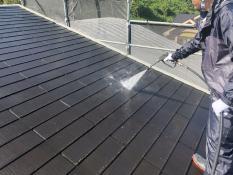 横浜市港北区G様邸屋根高圧洗浄