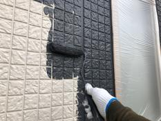 横浜市港北区G様邸外壁塗装上塗り1回目