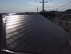 屋根遮熱塗装施工後