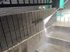 横浜市栄区A様邸塀高圧洗浄
