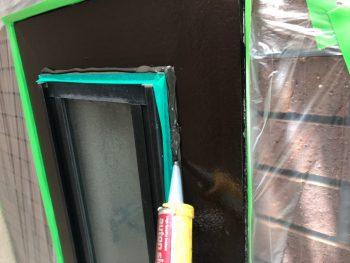 窓枠シーリング充填